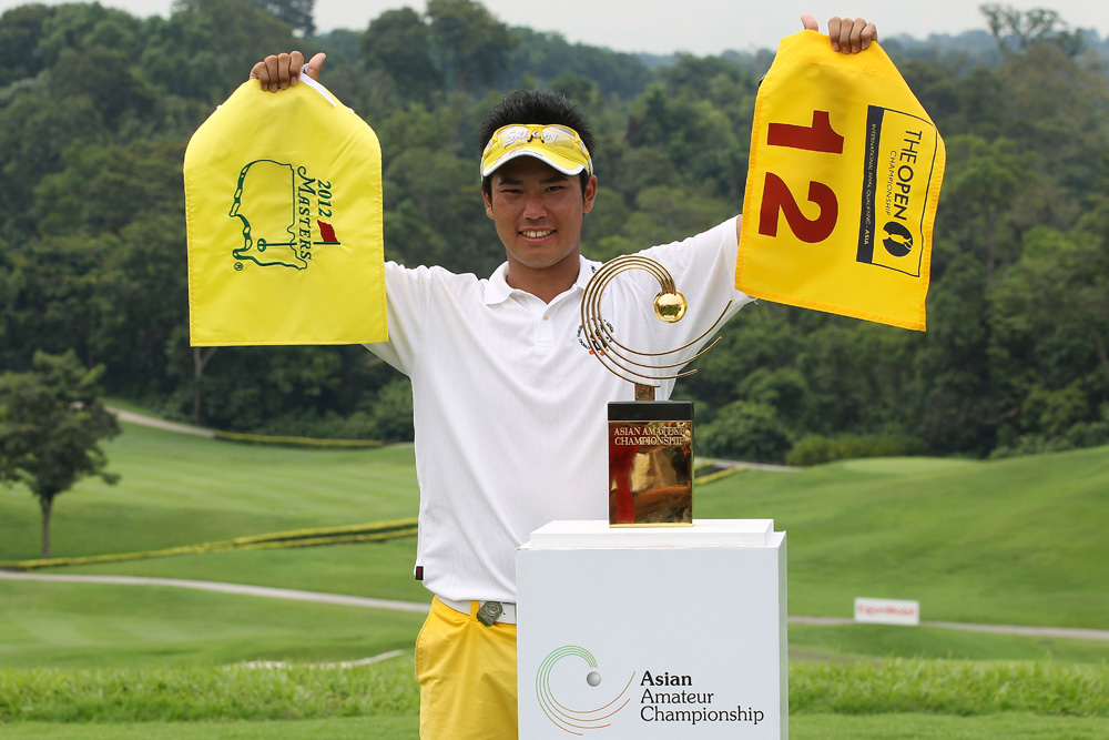 Hideki Matsuyama after winning the 2011 Asia-Pacific Amateur Championship (Augusta National/Getty Images)