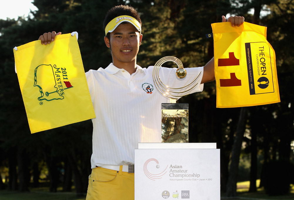 Hideki Matsuyama after winning the 2010 Asia-Pacific Amateur Championship (Augusta National/Getty Images)