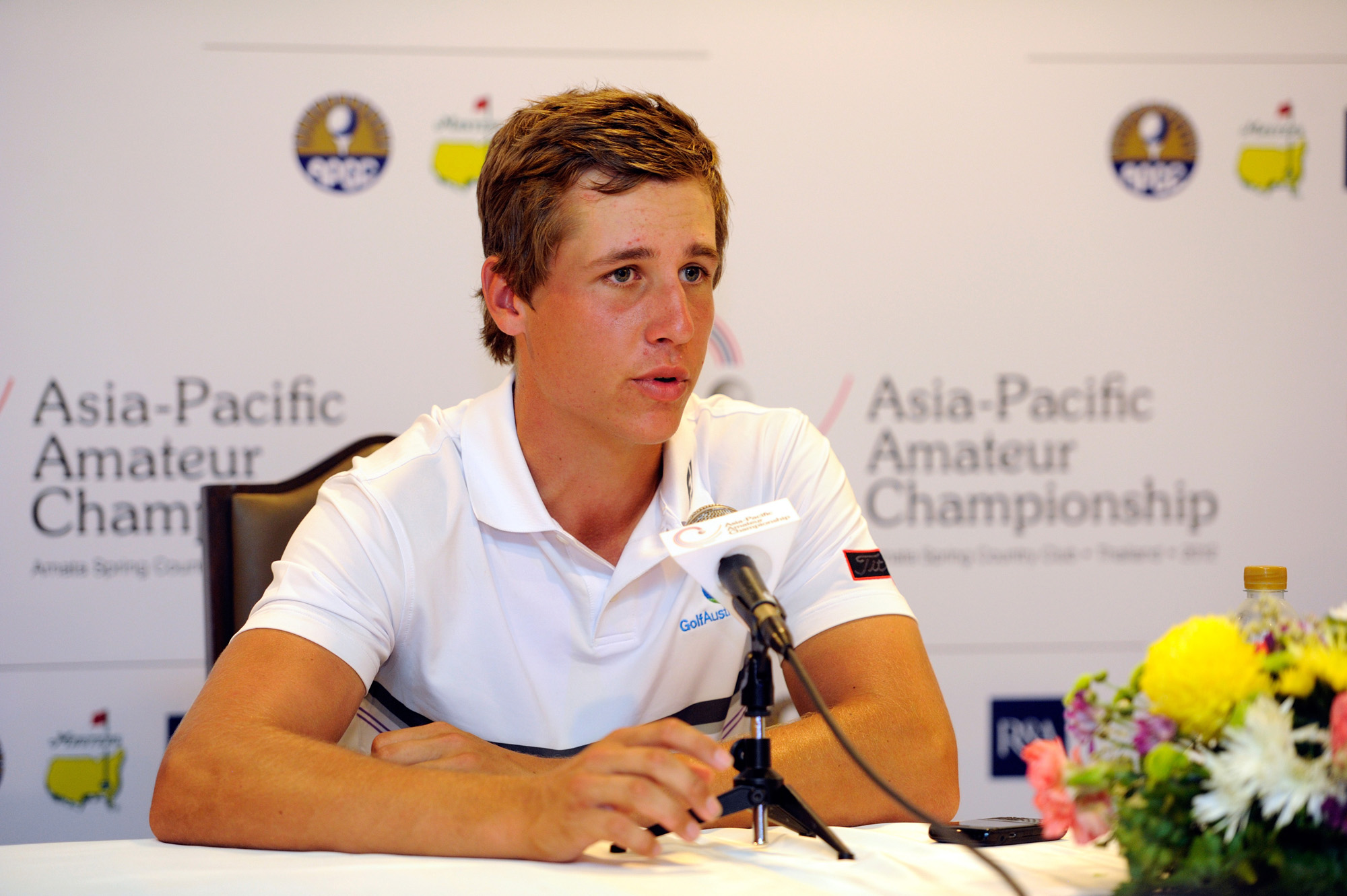 CHON BURI -THAILAND - NOVEMBER 2: Oliver Goss of Australia pictured during day 2 on November 2, 2012 at Amata Spring Country Club, Chon Buri, Thailand, The Asia-Pacific Amateur Championship event is staged from November 1-4, 2012. Photo by David Paul Morris/AAC