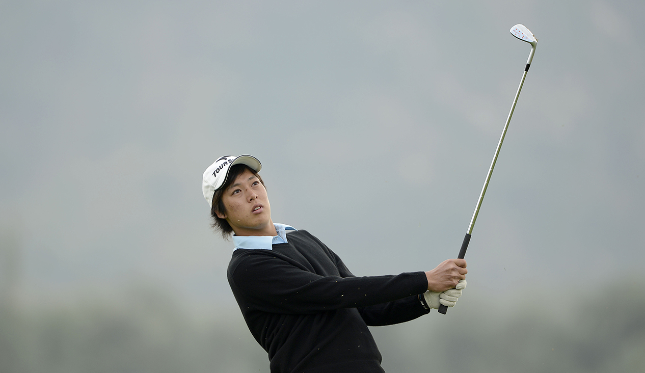 LONGKOU CITY, China- Shohei Hasegawa of Japan pictured during round two on Friday 25 October at the Asia -Pacific Amateur Championship at Nanshan International Golf Club, Garden Course. Picture by Paul Lakatos/AAC.