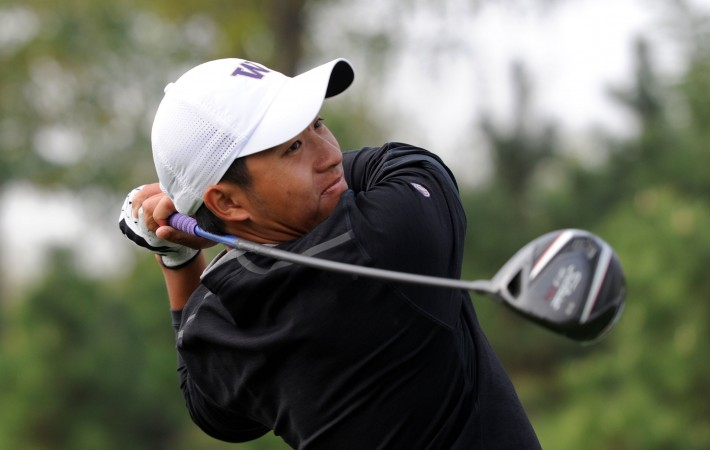 LONGKOU CITY, China – Pan Cheng-tsung of Chinese Taipei pictured at the Asia-Pacific Amateur Championship at the Nanshan International Golf Club, Garden Course on October 22, 2013. Picture by David Paul Morris/AAC.