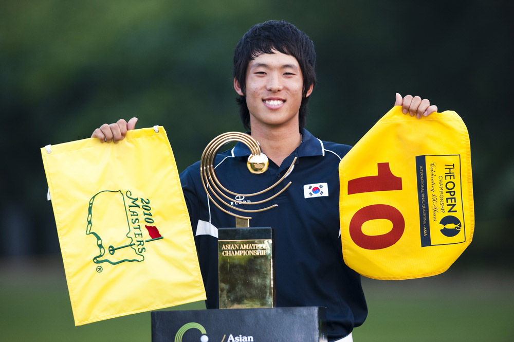 Chang-won Han after winning the 2009 Asia-Pacific Amateur Championship (Augusta National/Getty Images)