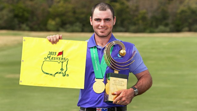 Melbourne, Australia: Winner of the 2014 Asia-Pacific Amateur Championships Antonio Murdaca of Australia at the Royal Melbourne Golf Club during round 04 on October 26, 2014. (Photo by Brett Crockford/AAC)