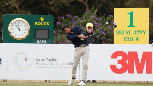 Tshendra Dorji of Bhutan plays in Round 1 of the 2014 AAC. (Photo by David Tease / AAC)