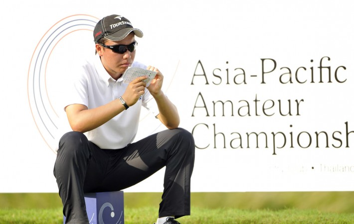 CHON BURI-THAILAND - Kenta Konishi of Japan in action at the 2012 Asia-Pacific Amateur Championship at Amata Spring Country Club, Chon Buri, Thailand, November 1-4, 2012. Photo by Paul Lakatos/AAC.