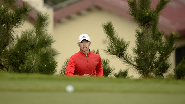 LONGKOU CITY, China- Guan Tianlang of China pictured during round two on Friday 25 October at the Asia -Pacific Amateur Championship at Nanshan International Golf Club, Garden Course. Picture by Paul Lakatos/AAC.